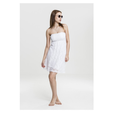 Ladies Laces Dress - white Urban Classics