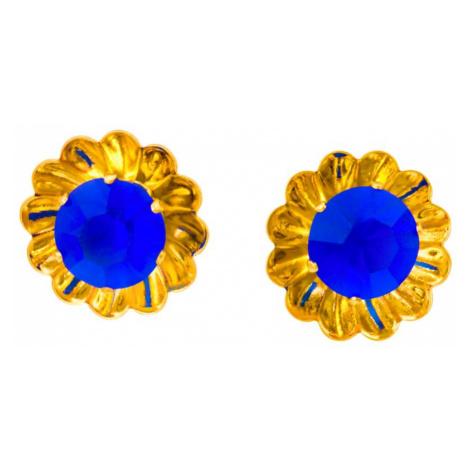 Linda's Jewelry Náušnice Simple Květ pecky chirurgická ocel IN045 Barva: Světlé modrá
