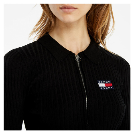 Tommy Jeans Zip Through Sweater Black Tommy Hilfiger