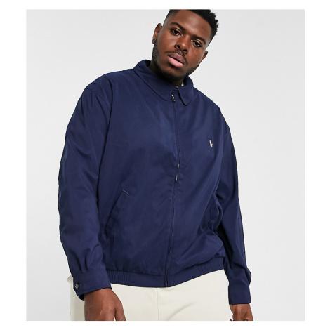 Polo Ralph Lauren Big & Tall player logo Bi-Swing harrington jacket in navy