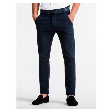 Pánské chinos kalhoty Danilo granátové Ombre Clothing
