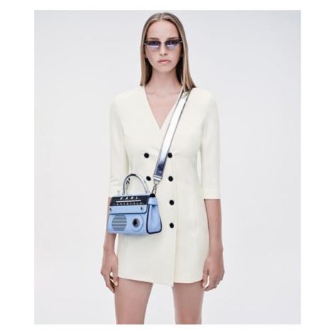 Šaty Karl Lagerfeld Double Breasted Punto Dress - Bílá