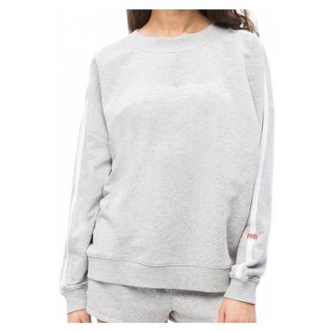 Calvin Klein dámská mikina QS6187E šedá - Šedá