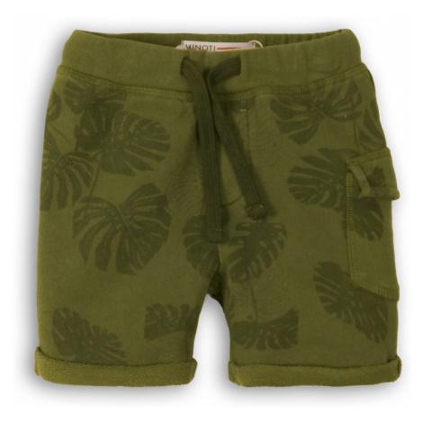 Kraťasy chlapecké teplákové, Minoti, Lizard 2, zelená