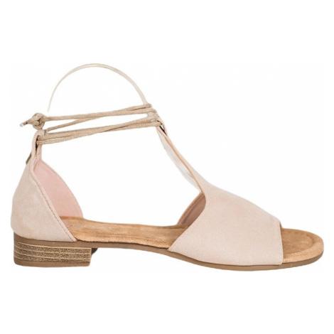Béžové vázané sandálky vinceza