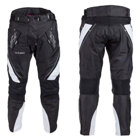 Dámské moto kalhoty W-TEC Kaajla NF-2683 černo-růžová