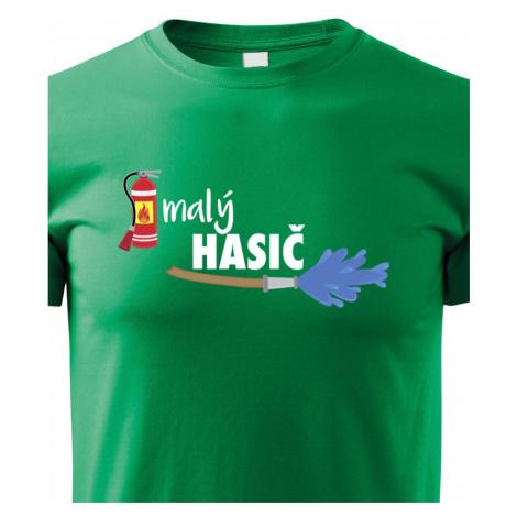 Dětské triko Malý hasič - originální triko pro syna hasiče BezvaTriko