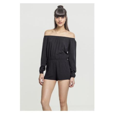 Ladies Short Longsleeve Overall - black Urban Classics