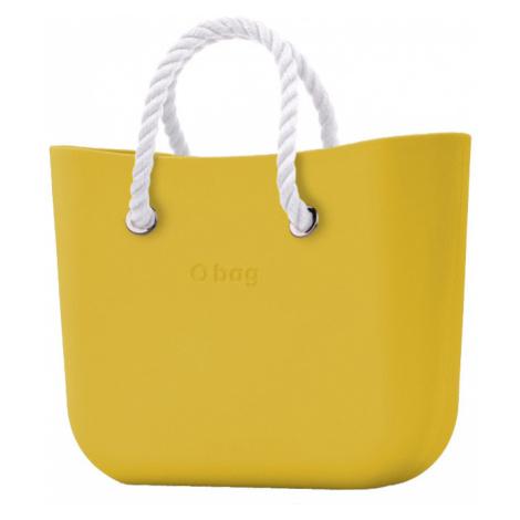 O bag MINI kabelka Ginestra s bílými krátkými provazy
