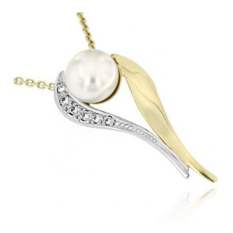 Diamantový přívěsek s perlou na řetízku 32264 OPTIMA DIAMANT