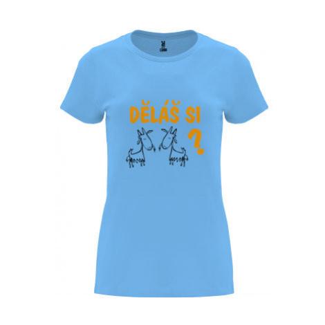 Dámské tričko Premium Děláš si kozy