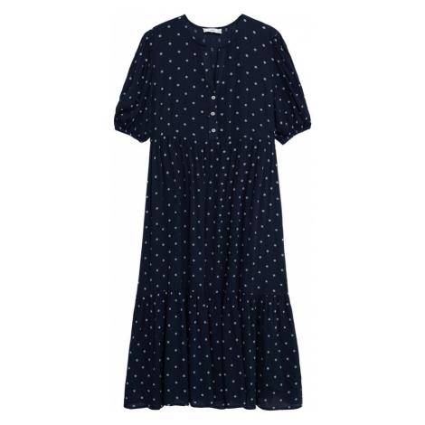 MANGO Košilové šaty 'Jamie' tmavě modrá / světlemodrá