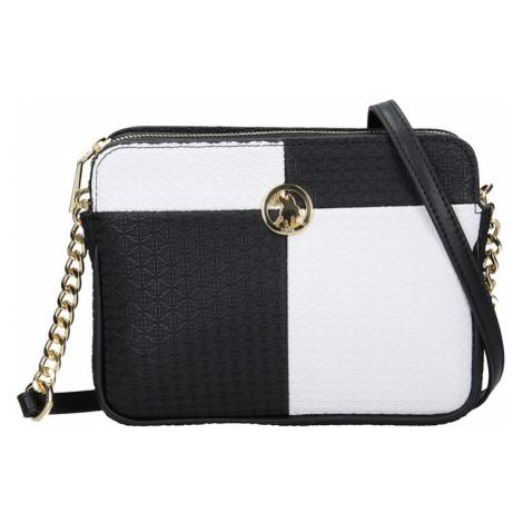 Dámská crossbody kabelka U.S. POLO Nicol - černo-bílá U.S. Polo Assn