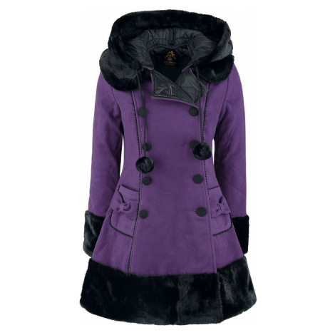 Hell Bunny Sarah Jane Coat Dívcí kabát šeríková