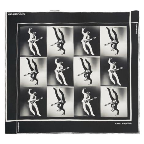 Hedvábný šátek - KARL LAGERFELD