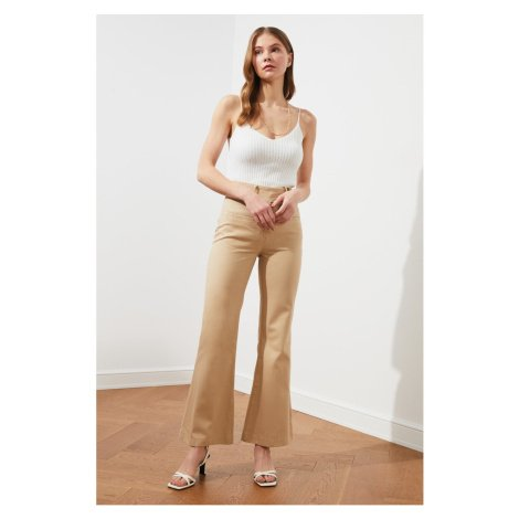 Trendyol Beige Button Detail Pants