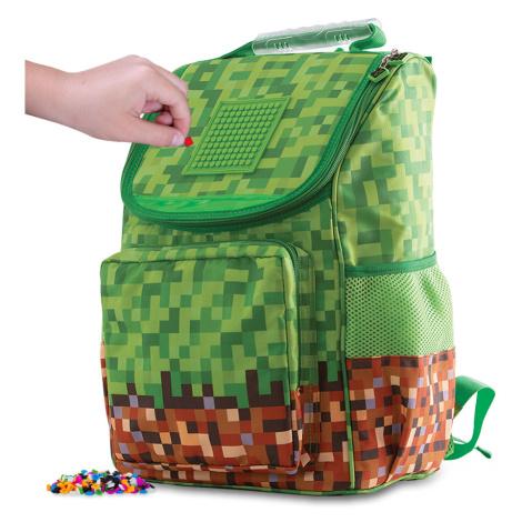 PIXIE CREW chlapecký Minecraft batoh zelená kostka s malým panelem