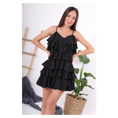 Šaty s volánky / černé