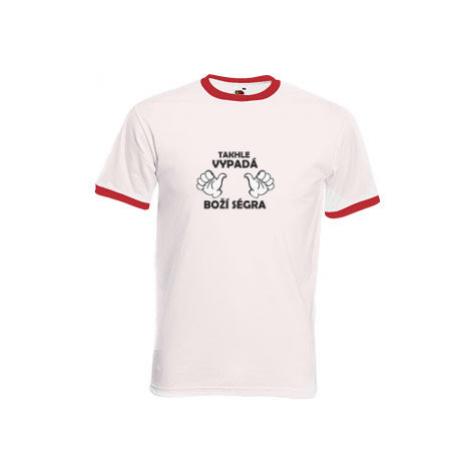 Pánské tričko s kontrastními lemy Boží ségra