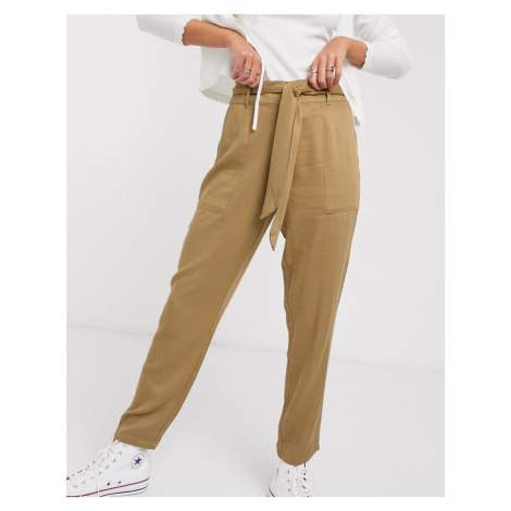 Oasis utility trousers in camel-Tan