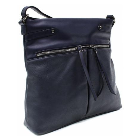 Tmavě modrá dámská zipová crossbody kabelka Pierrette New Berry