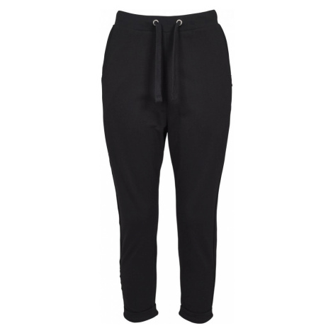 Ladies Open Edge Terry Turn Up Pants - black Urban Classics
