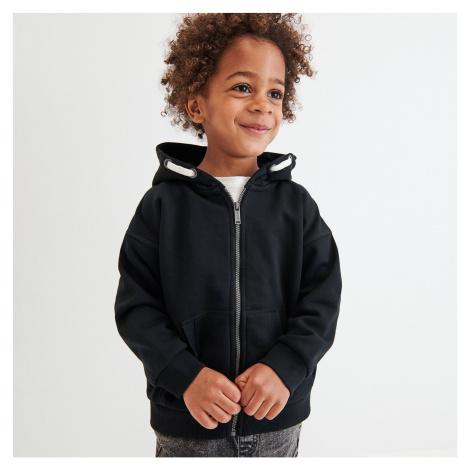 Reserved - Mikina s kapucí z teplákového žerzeje - Černý