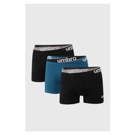 3 PACK modročerných boxerek Umbro