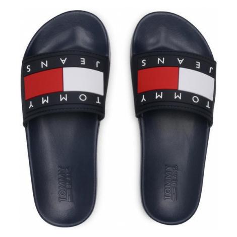 Tommy Hilfiger Tommy Jeans dámské tmavě modré pantofle