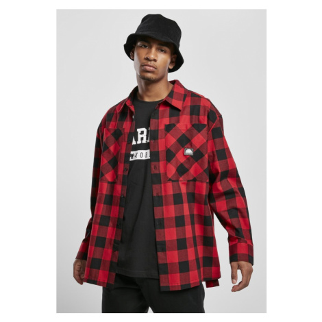 Southpole Check Flannel Shirt - red Urban Classics