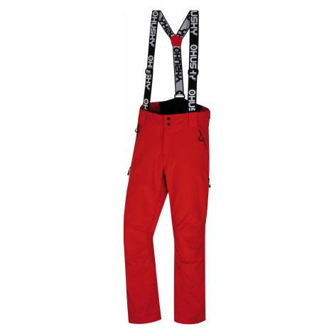 Husky Galti M, červená Pánské lyžařské kalhoty