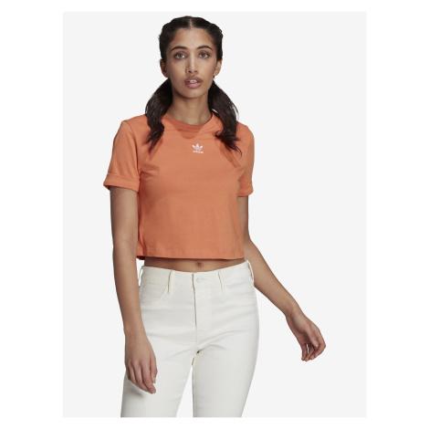 Crop top adidas Originals Oranžová