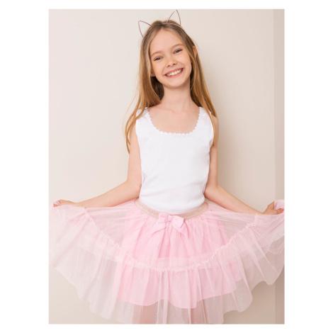 Bavlněný bílý top pro dívky FPrice