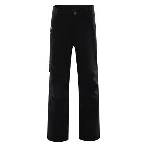 Dětské softshellové kalhoty Alpine Pro PLATAN 2 INS. - černá