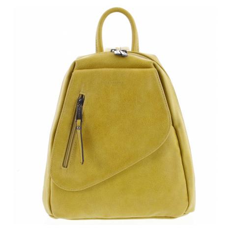 Módní dámský žlutý batoh - Hexagona Pasha