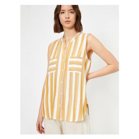 Koton Striped Sleeveless Shirt