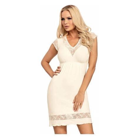 Luxusní dámská noční košile Dafne vanilka Donna