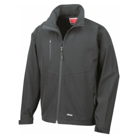Pánská 2 vrstvá softshellová bunda - černá