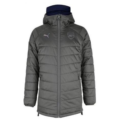 Bunda Puma Arsenal FC Bench Jacket Reversible (oboustranná) Šedá / Tmavě modrá