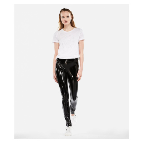 Legíny Karl Lagerfeld Karl Faux Patent Leggings - Černá