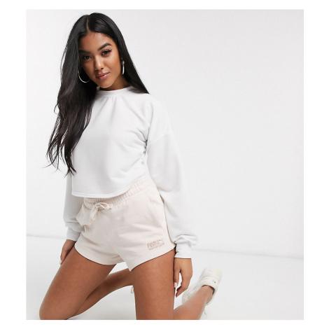 Puma Heavy Fleece Shorts in Beige exclusive to ASOS