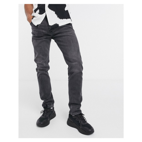 Weekday Friday skinny fit jeans in night black