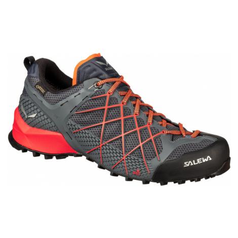Pánská turistická obuv Salewa Wildfire GTX Black out/silver