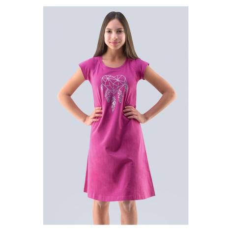 Dívčí noční košile Hearts růžová Gina