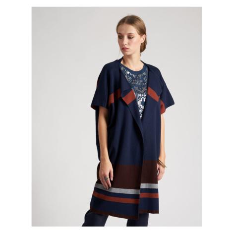 Svetr La Martina Woman Cotton Tricot Gg12 - Modrá