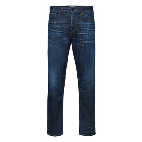 SELECTED HOMME Pánské džíny Tapered-Toby D.Blu St Jns W Dark Blue Denim
