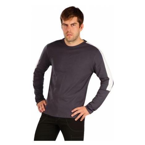 Pánské triko s dlouhým rukávem Litex 7A368 | tmavě šedá