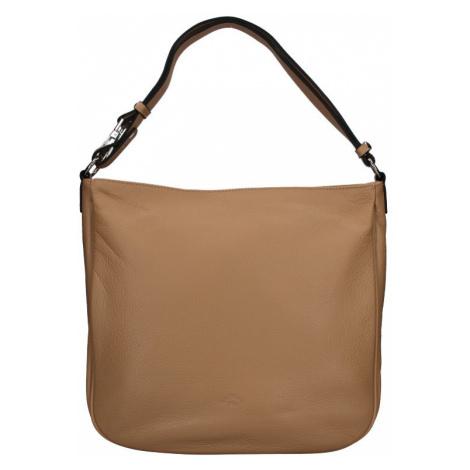 Elegantní dámská kožená kabelka Katana Jindra - tmavě béžová