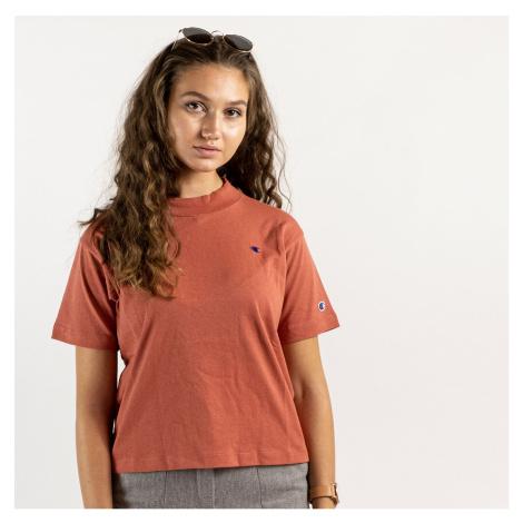 Oranžové crop tričko Crewneck T-Shirt Champion