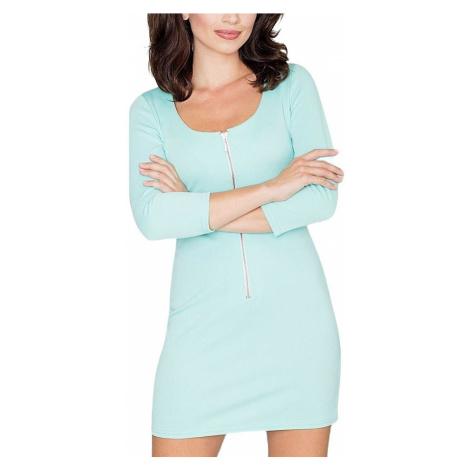 Mátové mini šaty se zipem Katrus